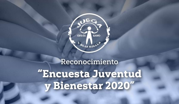 """Reconocimiento """"Encuesta Juventud y Bienestar 2020"""""""